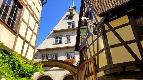 Winery (winery Boeckel) in Mittelbergheim, Alsace, France