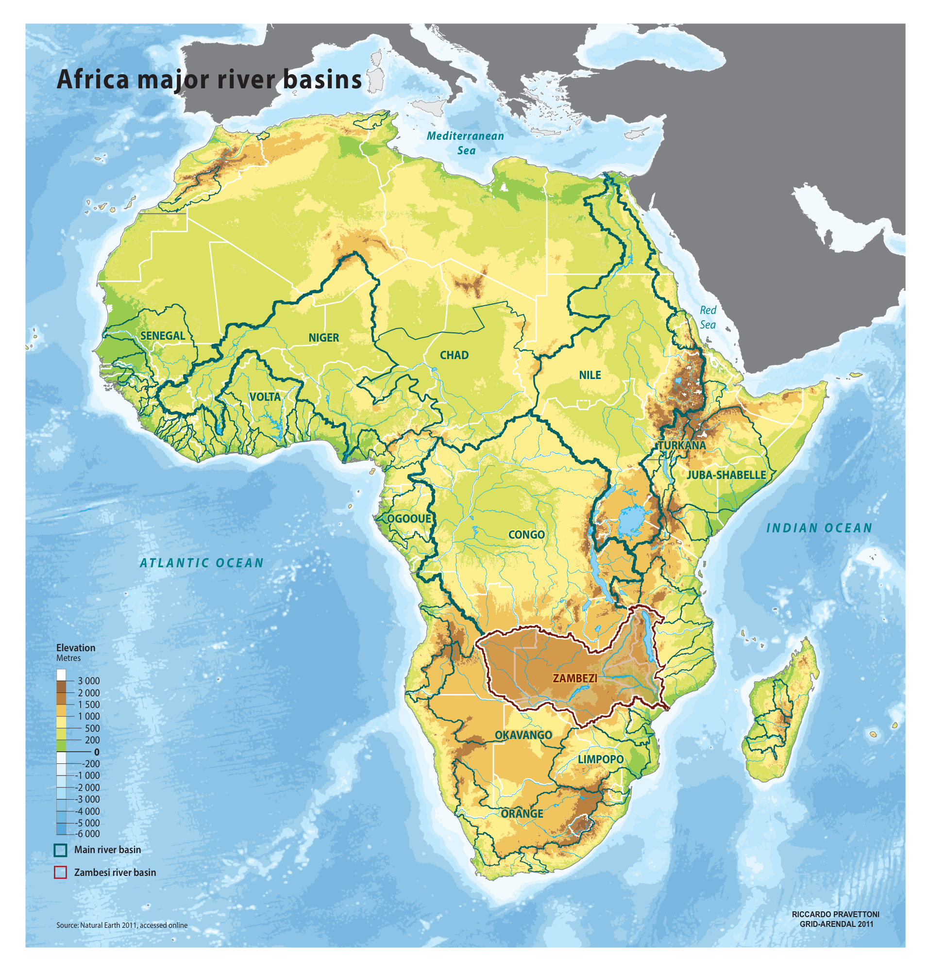Africa major river basins | GRID-Arendal