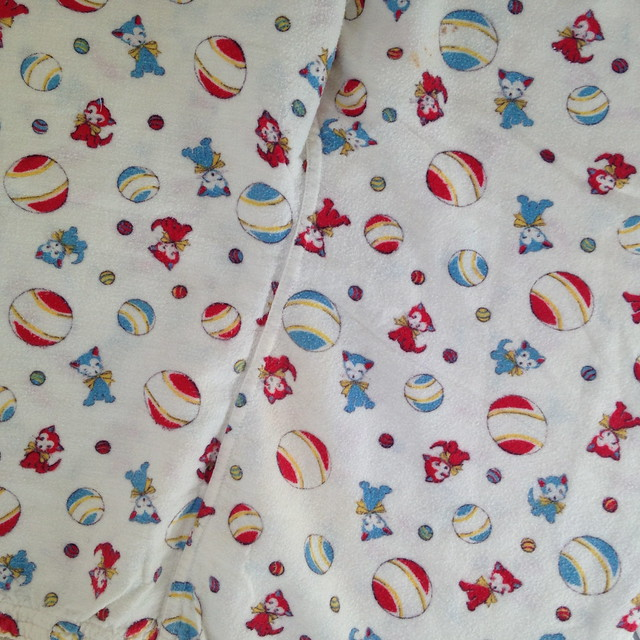 vintage flannel cat pajamas