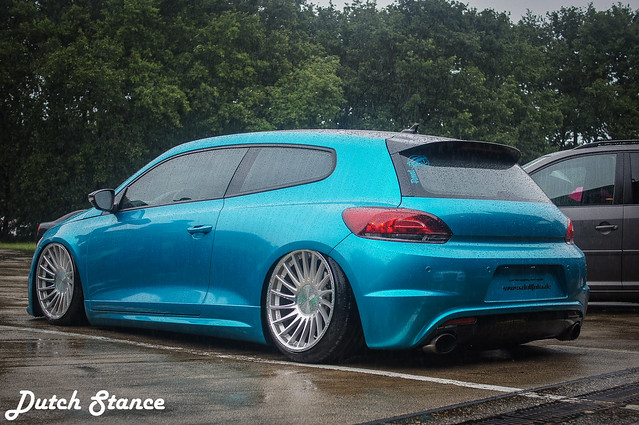 Blue Volkswagen Scirocco