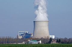 cooling tower, power station, nuclear power plant,