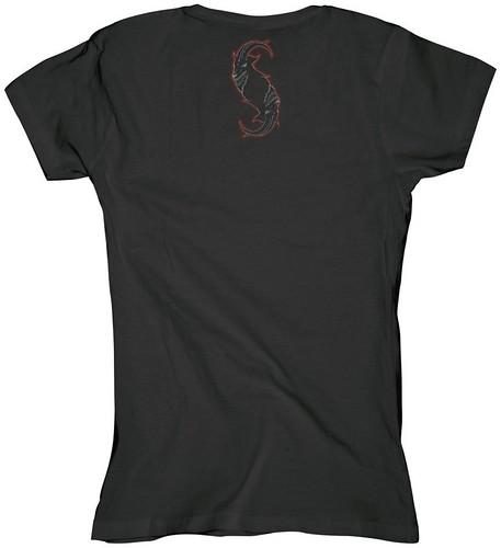 Slipknot-Damen-T-Shirt-Star-Skull_b2