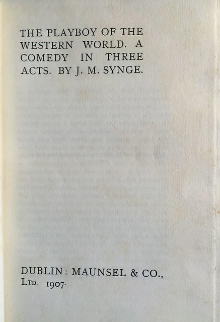 Synge Playboy title page
