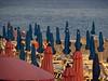 Effets de parasol au soir tombant, Bordighera, province d'Imperia, Ligurie, Italie. by byb64