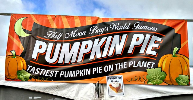 Half Moon Bay Pumpkin Festival pie sign