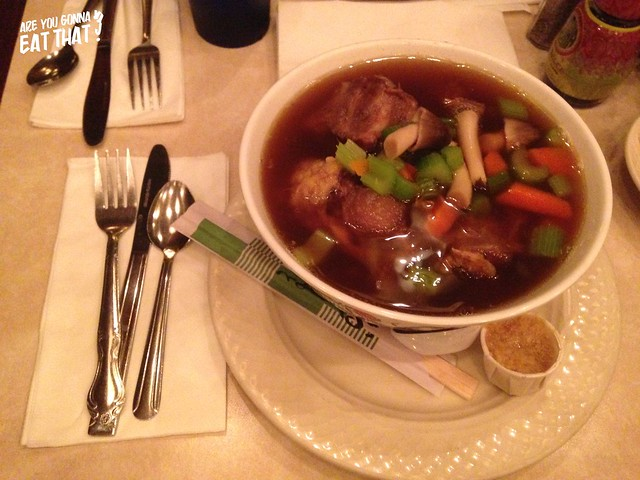 Oxtail soup at The California Hotel