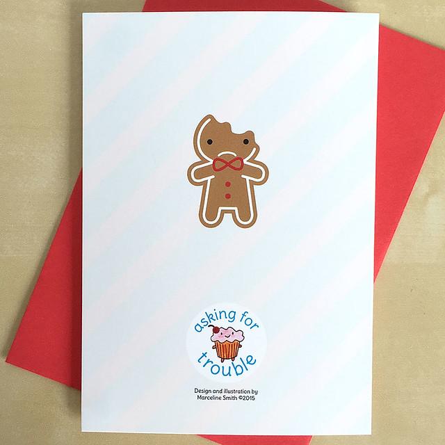 Gingberbread Man Christmas Card