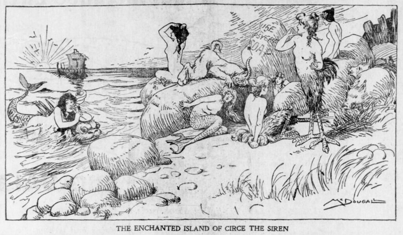 Walt McDougall - The Salt Lake herald., May 11, 1902, The Enchanted Island Of Circe The Siren