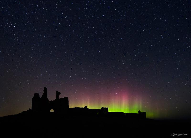 Cosmic Castle ! - Aurora Borealis, Dunstanburgh Castle, Northumberland