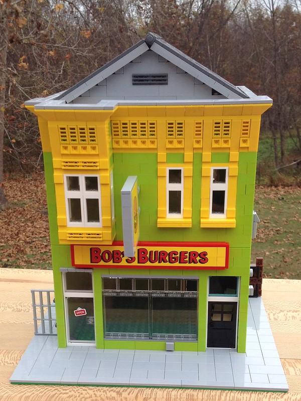 Moc Bob S Burgers Restaurant Lego Town Eurobricks Forums