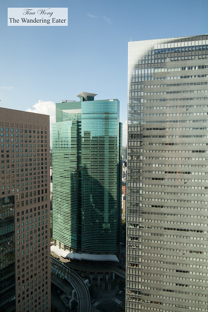 View of Ginza's skyscrapers from King City View Room