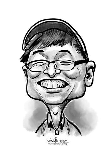 digital caricature for eBay - Kong, Hye Jung