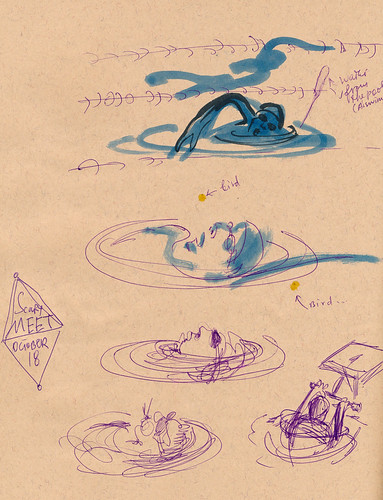 Sketchbook #93: Halloween Swim Meet