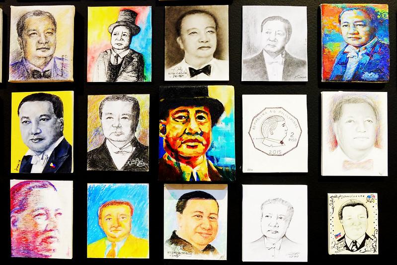 Late President Elpidio Quirino Portraits at Ayala Museum Sundae Scoops