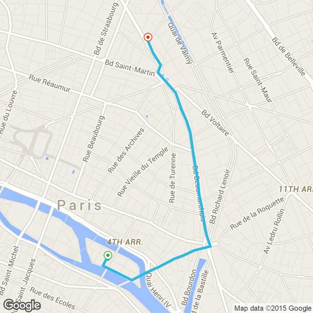 uber trip in paris :-(