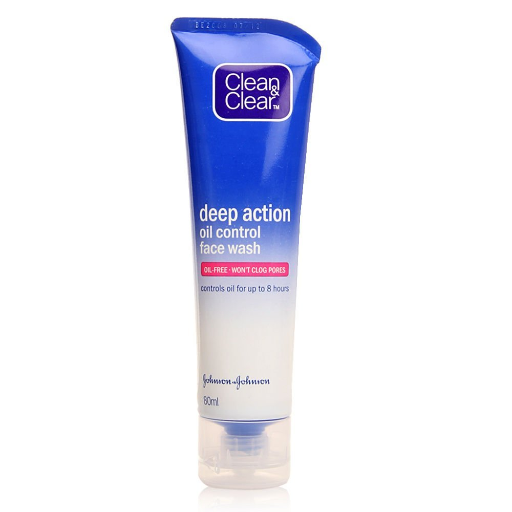 Best Face Wash for oily skin - Clean & Clear Deep Action Oil Control Face Wash