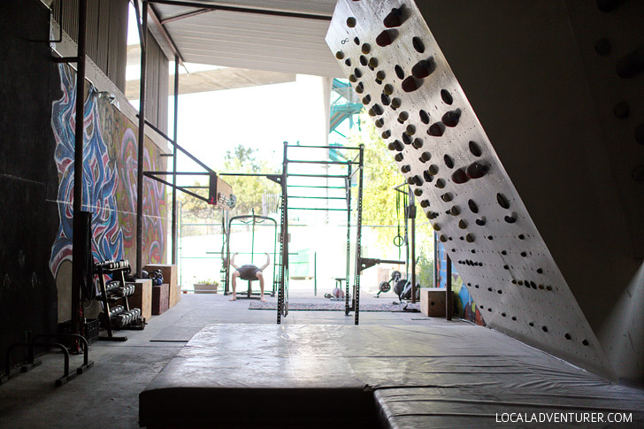 The gym portion of the Grotto Climbing San Diego.