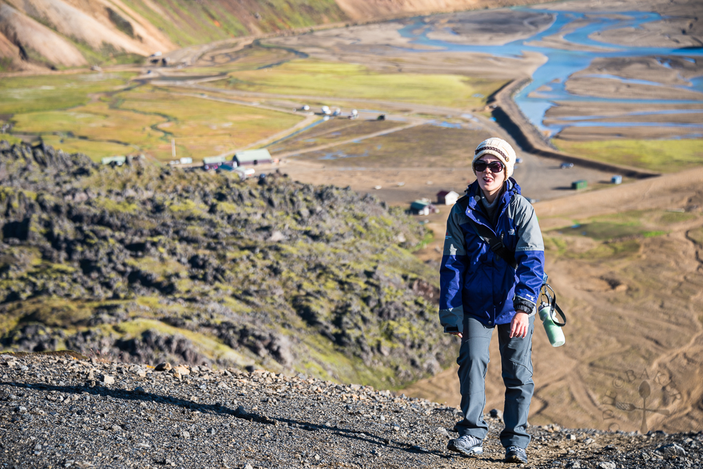hike up to Mt. Bláhnjúkur