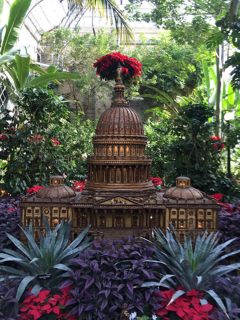 Miniature Capitol Building at U.S. Botanic Garden