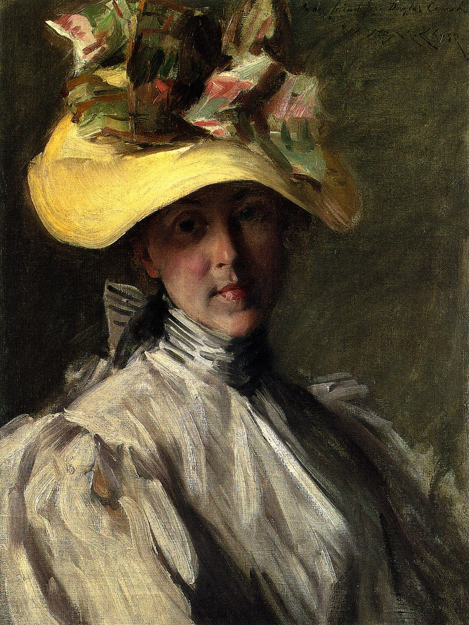 Woman with a Large Hat by William Merritt Chase, 1904
