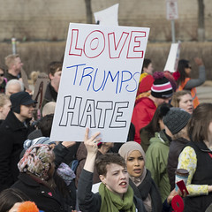 Protest against Donald Trump's immigration policies