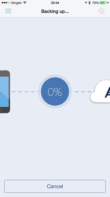 Acronis True Image iOS App - Backing Up