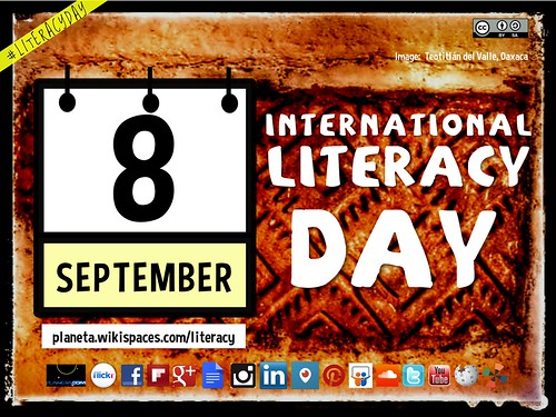 Free Poster! September 8 is International Literacy Day #LiteracyDay (Attribution-ShareAlike License) @NavajoWeb @elChilamBalam @TeotitlanDValle @BnZunni @IndigenousTweet @NatIndigRadio @MacqDictionary @unesco