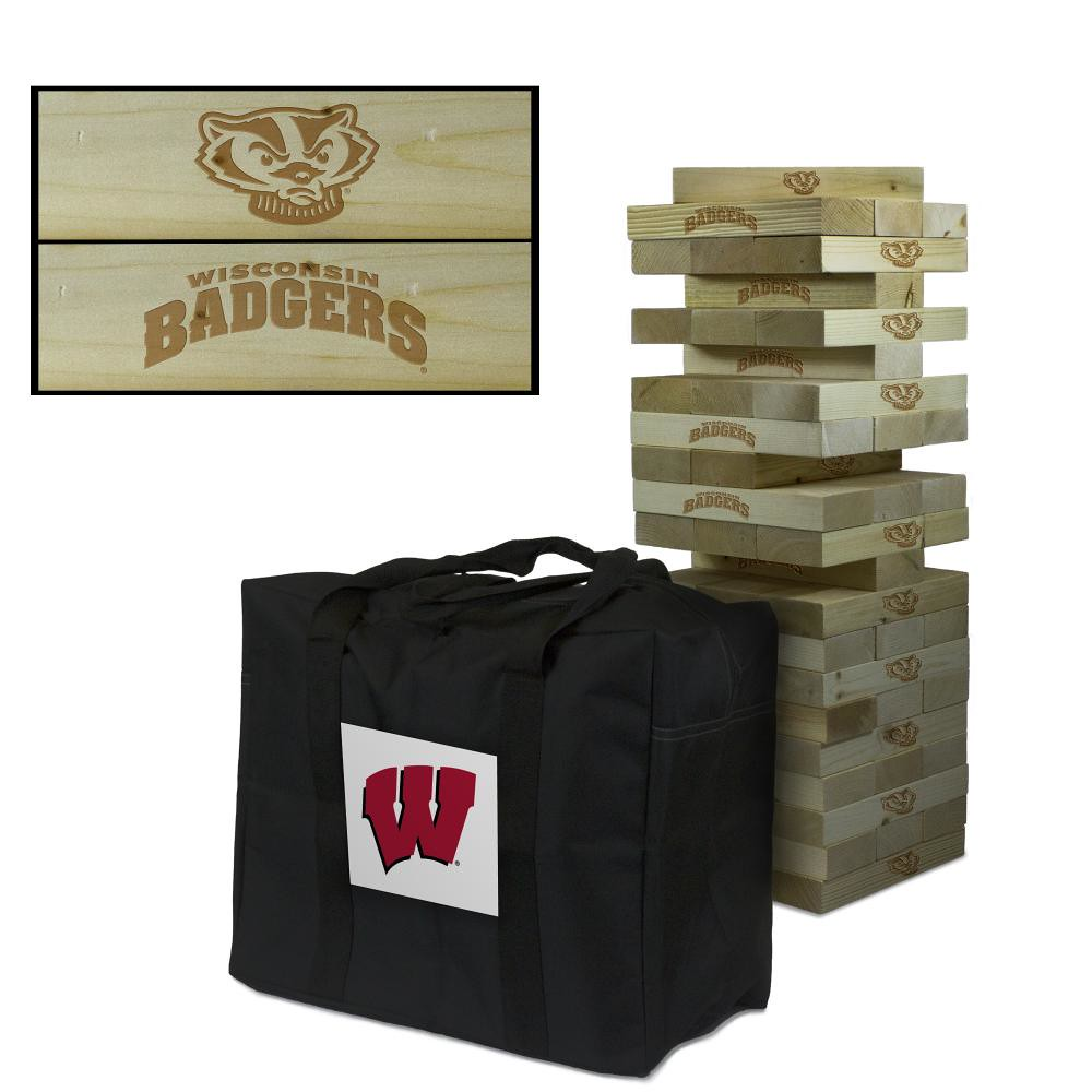 Wisconsin Badgers Wooden Tumble Tower Game