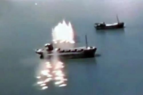 ataque eeuu contra buques japoneses