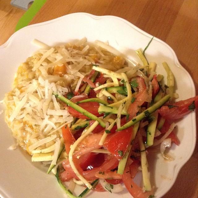 #12von12 #food #küche risotto mit salat!