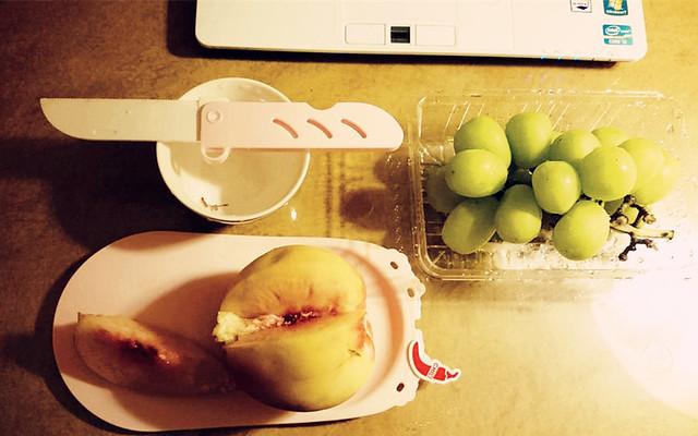 山梨縣的貓眼葡萄&水蜜桃