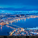 Norway - Tromsø - Fantastic view of Tromsø under snow during winter time at Dusk - Twilight - Blue Hour - Night by © Lucie Debelkova / www.luciedebelkova.com