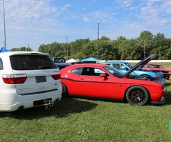 A tough pair. #Challenger #Durango #Dodge #DodgeChallenger #DodgeDurango #Cars4Life #Cars #SUV #CarsofInstagram #InstaCar #Horsepower - photo from dodgeofficial