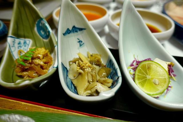 Photo:dinner:小鉢3種『ひなの宿 ちとせ』(新潟県十日町市松之山) By TOMODA