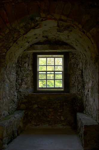 Inside Dunstaffnage Castle