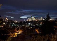 Seattle Skyline at Dusk From Mount Baker Ridge Viewpoint