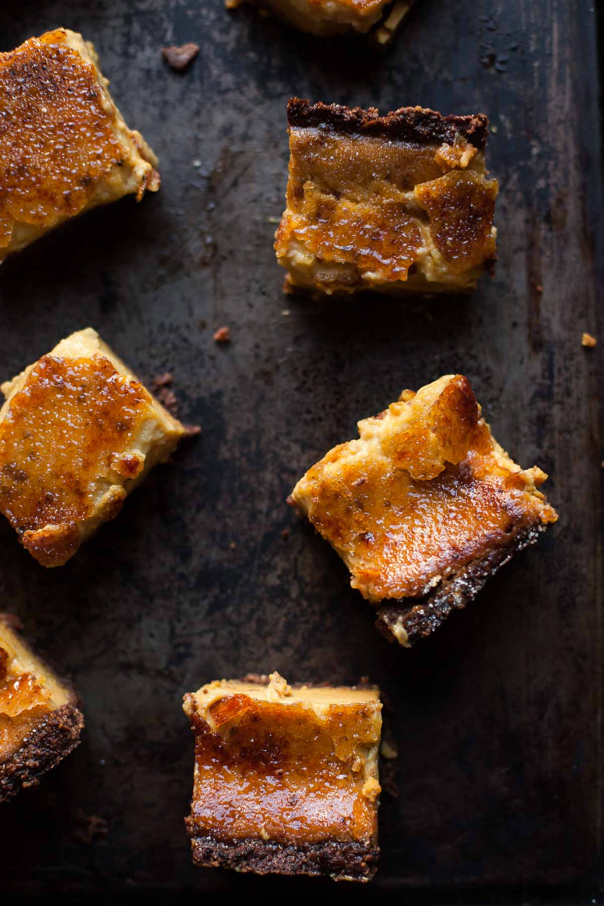 Pumpkin Crème Brûlée Pie Bars (Grain free) | acalculatedwhisk.com