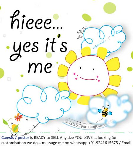 hieee-yes-it's-me (poster/canvas for sale) - TwinklingCube.com