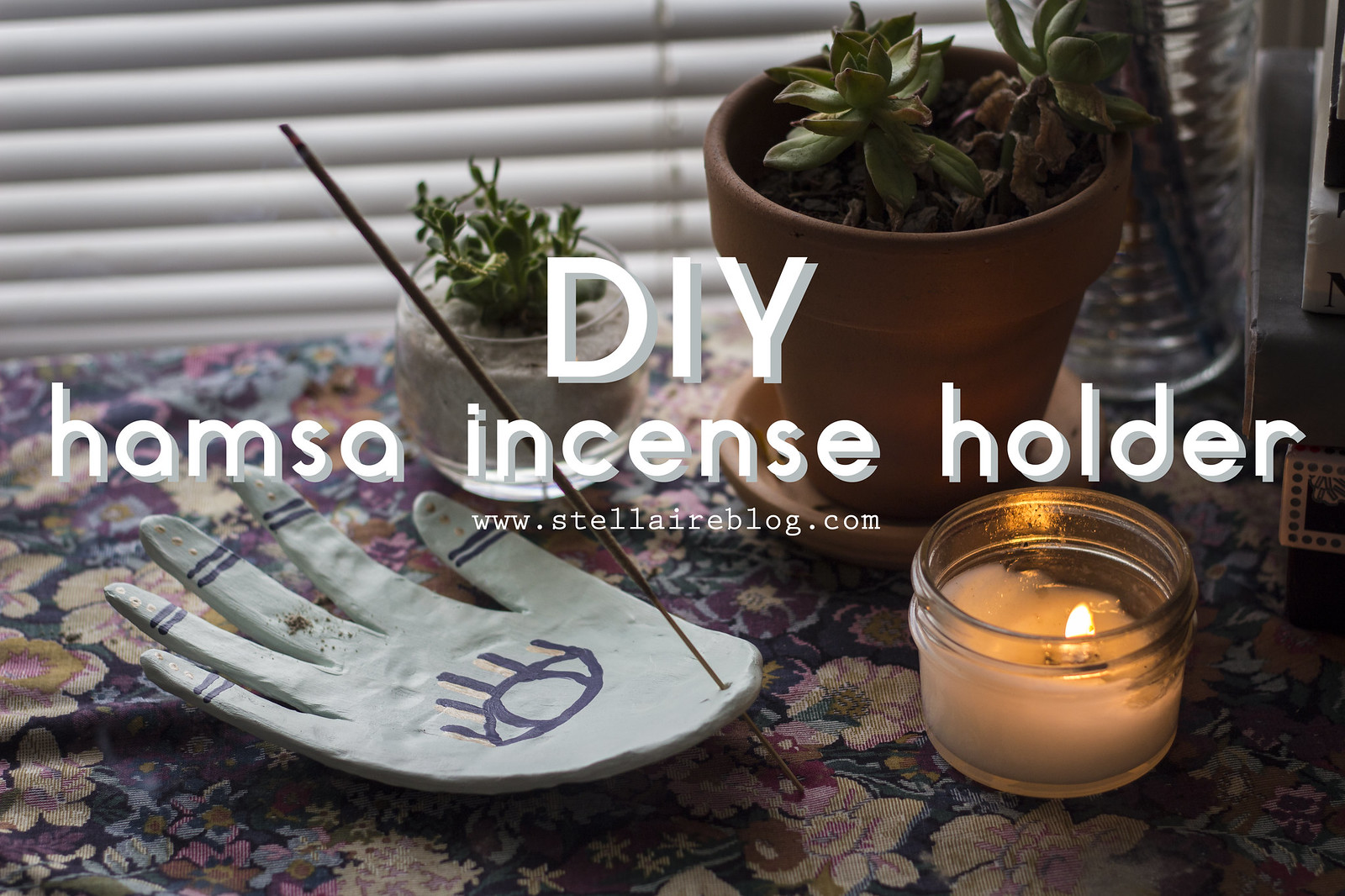 diy hamsa incense holder