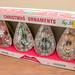 eBay Set - Vintage Jewelbrite 4 Teardrop Snowflake Unbreakable Christmas Ornaments by Decor Novelties