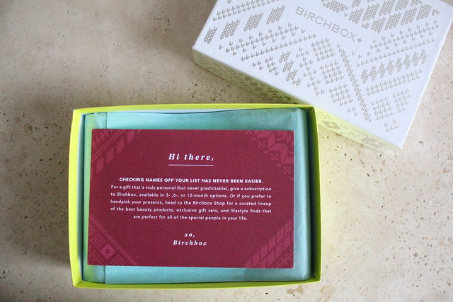 birchbox canada holiday review