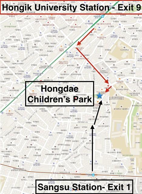 Hongdae Children's Park Directions