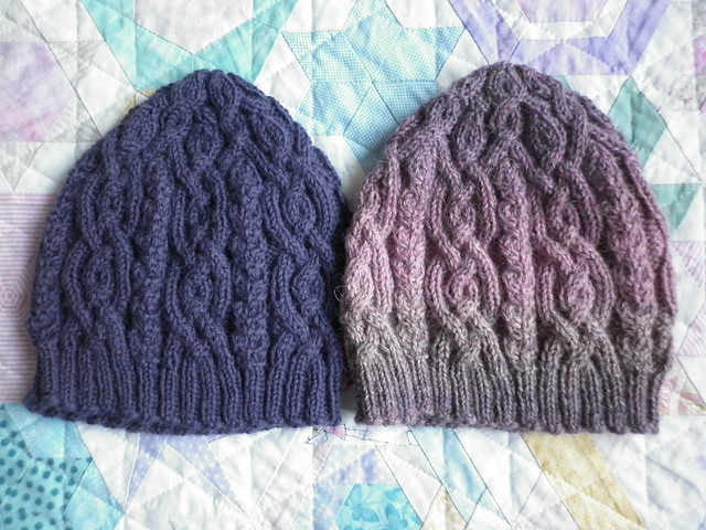 Two iced hats