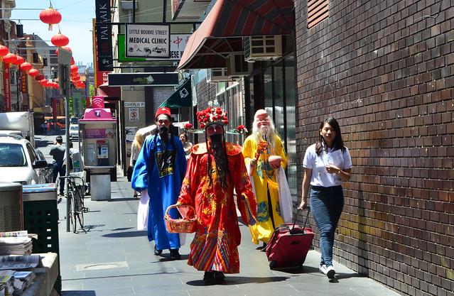Photo:Sanxing gods 三星 - Prosperity 福, Status 禄, Longevity 寿 in Chinatown for Chinese New Year 2017 By avlxyz