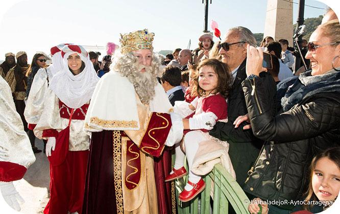 Los Reyes Magos llegan por Mar a Cartagena