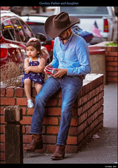 Cowboy Father and daughter