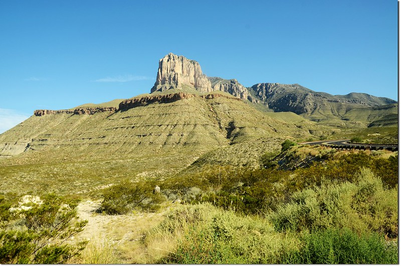 El Capitan(L) & Guadalupe Peak(R) from US 62.