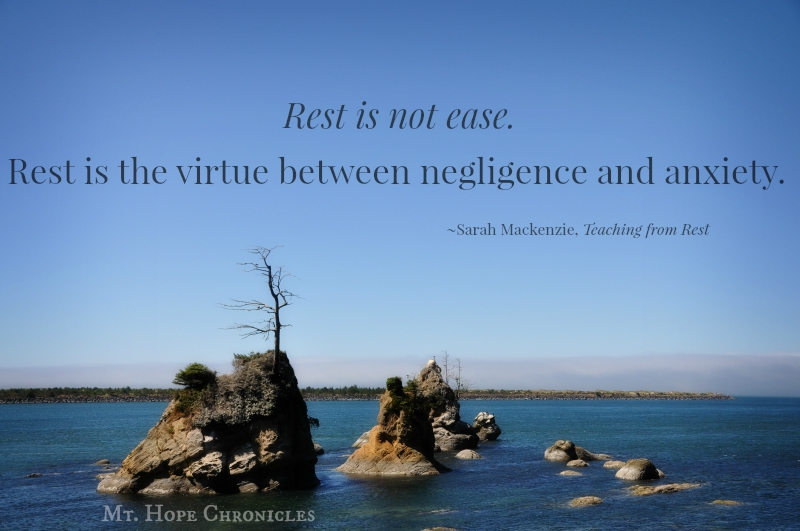 Rest is not ease @ Mt. Hope Chronicles