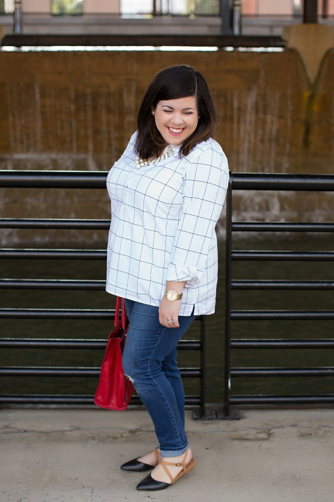 Head to Toe Chic, split neck shirt, fall outfit idea