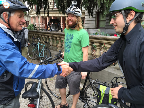 Mayor Hales' first bike commute-14.jpg
